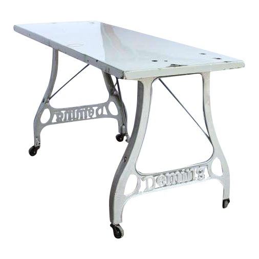 1920s Antique Industrial Folding Table For Sale