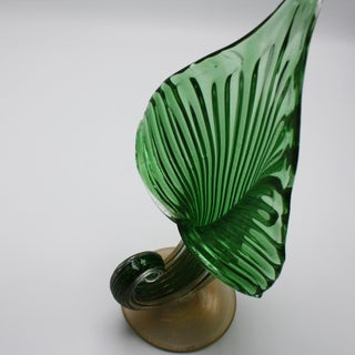 Archimede Seguso Jack-In-The-Pulpit Vase With 24k Gold Inclusions, C. 1950 Preview