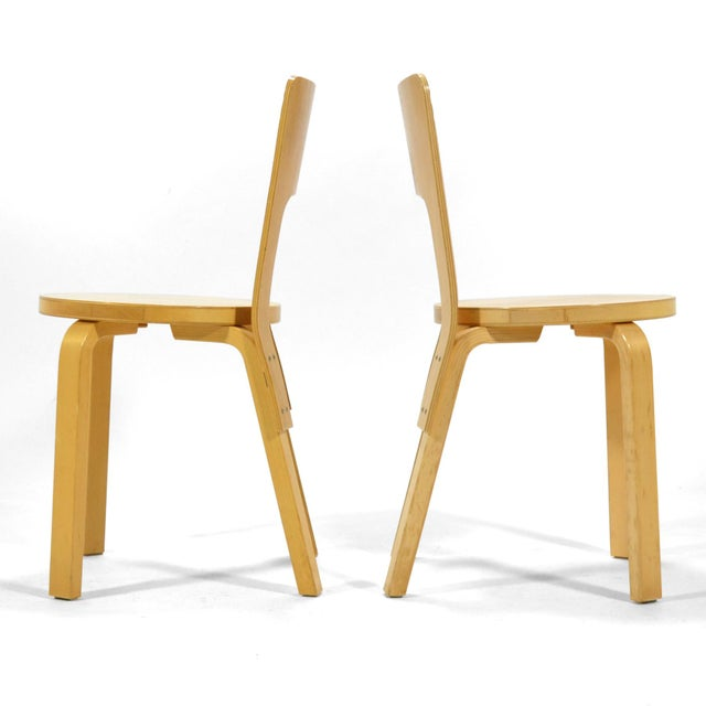 1970s Alvar Aalto Pair of Model 66 chairs For Sale - Image 5 of 11
