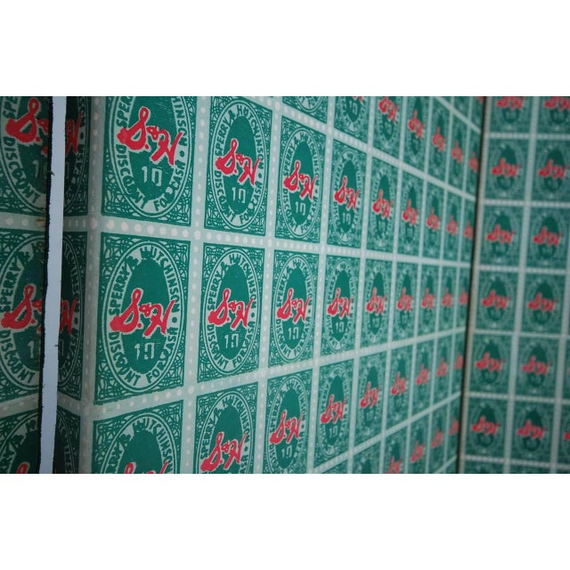 Andy Warhol S&h Green Stamps Folding Screen For Sale - Image 11 of 12