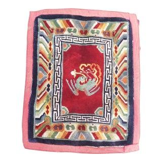 1920's Antique Tibetan Prayer Rug For Sale