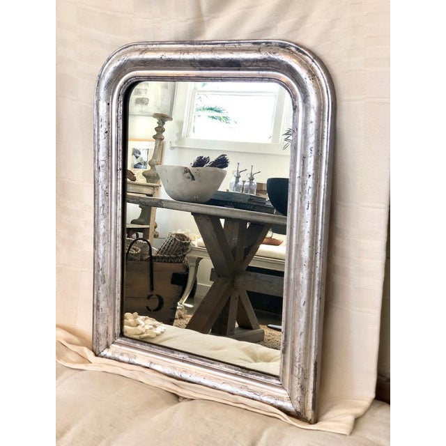 French Louis Philippe Silver Mirror For Sale - Image 4 of 4