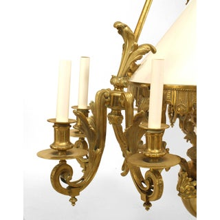 French Victorian Bronze Nine-Light Converted Gas Chandelier Preview