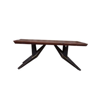 Faunia Wooden Console Table, Hallway or Entryway, Sofa Console for Living Room, Wood and Metal, Home Furniture, Wood Top-Natural For Sale