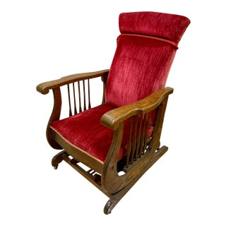 Antique Victorian Platform Rocking Chair For Sale
