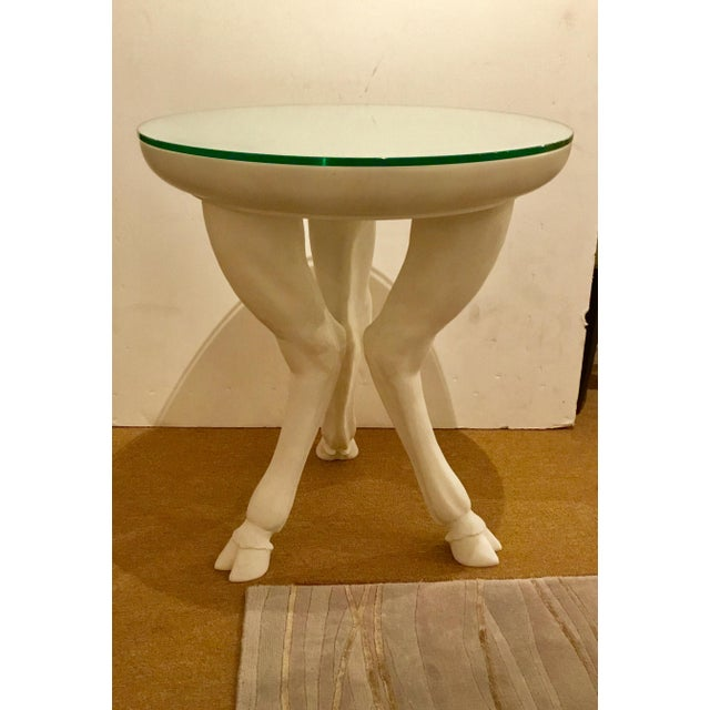 Arteriors Modern Angora White Hoof Side Table By: Barry Dixon For Sale In Atlanta - Image 6 of 6