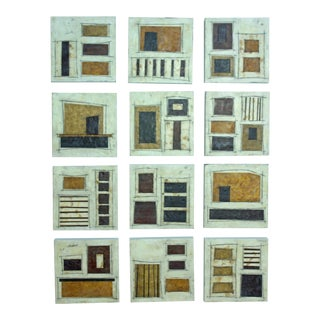 "Original Encaustic Collage Series by Gina Cochran ""Room 209"""