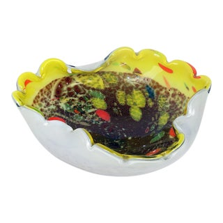 Vintage Mid-Century Murano Seguso Style Bowl For Sale