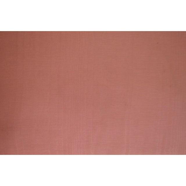 Hollywood Regency Pair Vintage Pink Upholstered Stools For Sale - Image 9 of 12