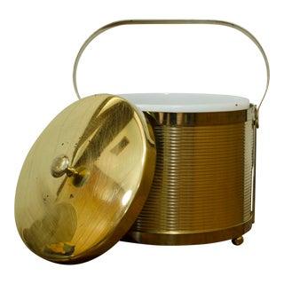 Vintage Gold Brass Ice Bucket