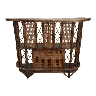 1970s Franco Albini Style Bamboo Bar For Sale