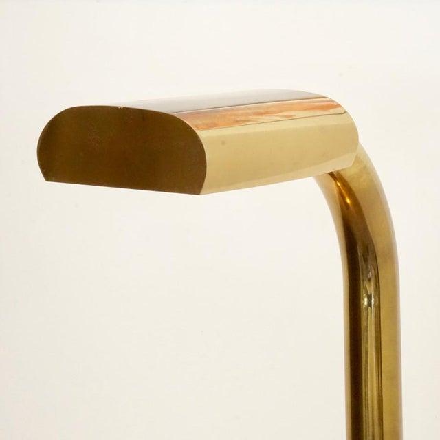 1970s Brass Tube Floor Lamp For Sale - Image 4 of 9