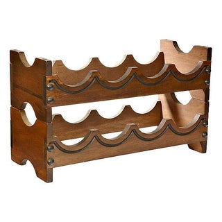 1970s Wood Wine Rack For Sale
