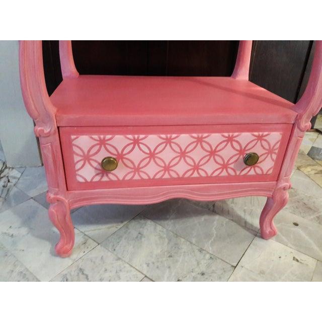 Shabby Chic Pink Nightstand - Image 4 of 5
