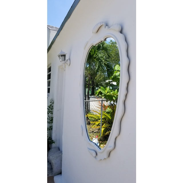 1950s Vintage Italian Dorothy Draper Style Decorative Wall Mirror For Sale - Image 4 of 10