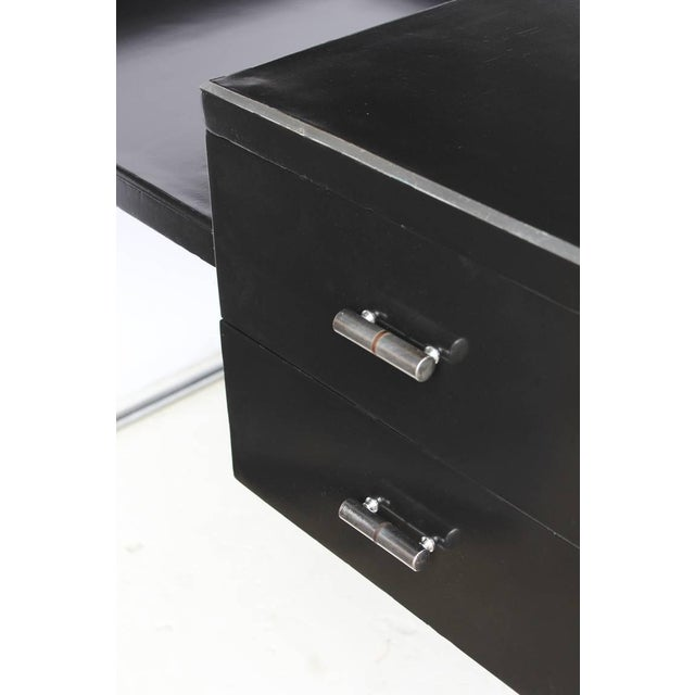 Art Deco Black Lacquered Desk by Wolfgang Hoffmann - Image 3 of 6