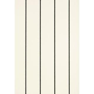 Sample - Schumacher Gabrielle Stripe Wallpaper in Graphite For Sale