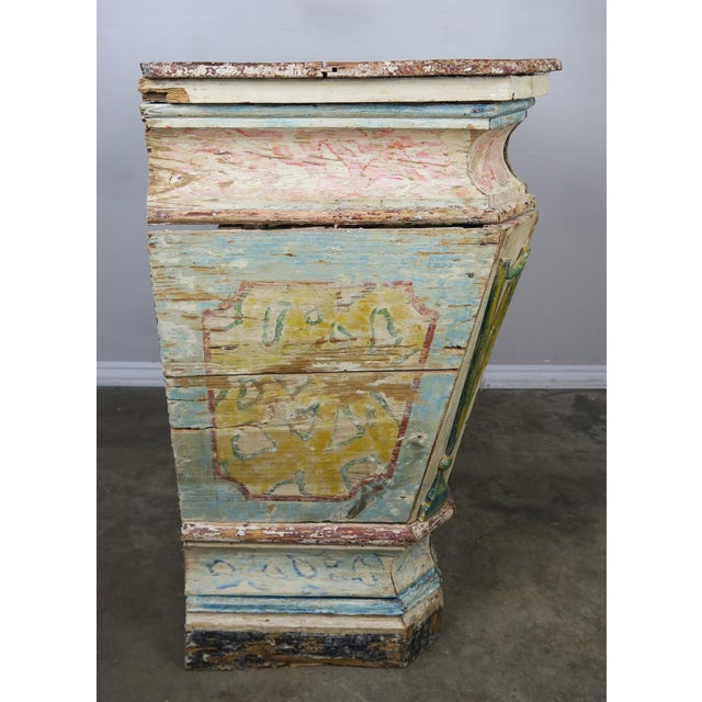 Wood 19th Century Italian Painted Altar Table For Sale - Image 7 of 10