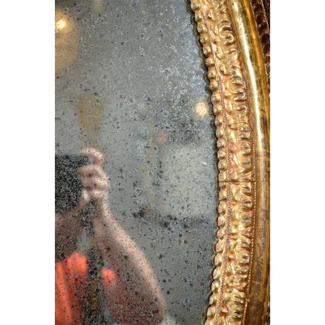 Mid 19th Century 19th Century Carved Wood and Gesso Gilt Mirror For Sale - Image 5 of 7