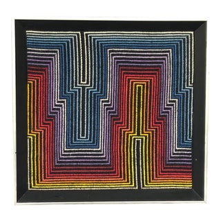 Modern Abstract Art Needlepoint Wall Hanging For Sale