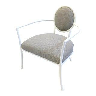 Bernhardt Solid Metal Framed Arm Chair For Sale