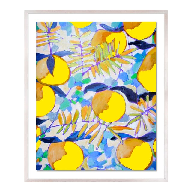 Peaches and Cream 1 by Lulu DK in White Wash Framed Paper, Medium Art Print For Sale