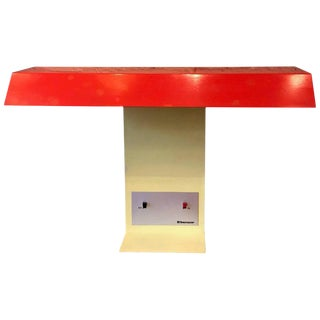 Red Orange Yellow Memphis Style Desk Lamp by Tensor For Sale