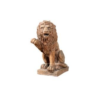 Antique Terracotta Lion Figurine For Sale