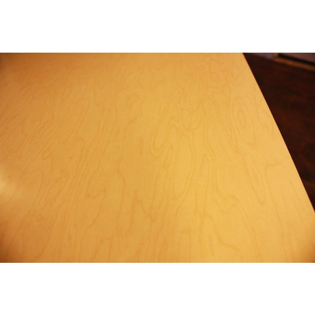 1950s French Laminated Plywood and Steel Adjustable Table - Image 6 of 10
