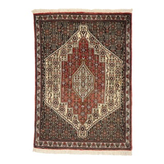 Vintage Persian Sanadaj Accent Rug - 02'05 X 03'05 For Sale