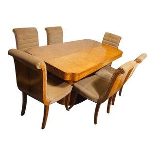 Epstein Furniture Co. English Art Deco Dining Set - Set of 7