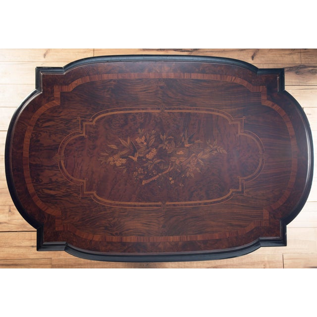 Brown Restored Victorian Inlaid Center Parlor Table For Sale - Image 8 of 9