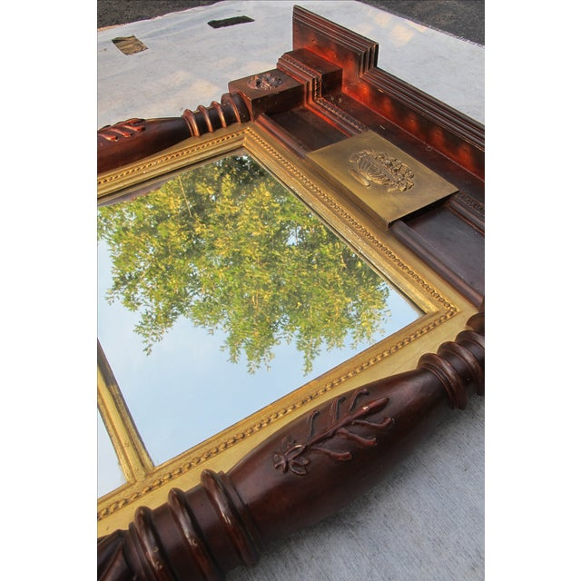 Brown Large Federal Style Mirror For Sale - Image 8 of 11