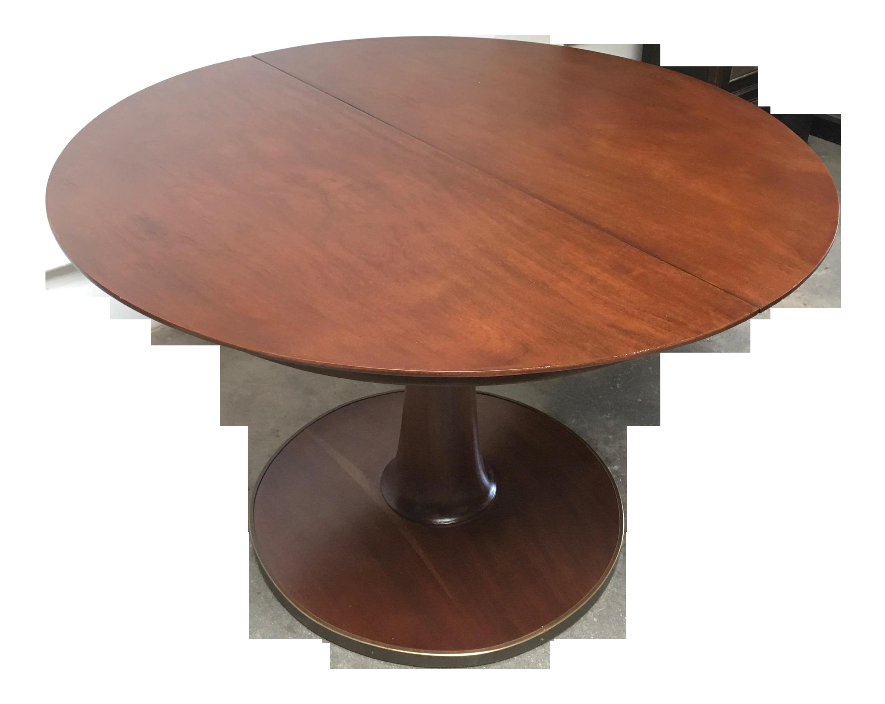 T H Robsjohn Gibbings Expandable Round Mahogany Dining Table Chairish
