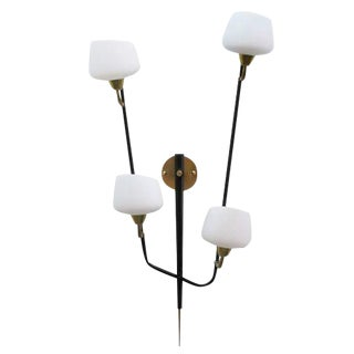 Large Italian Multiarm Wall Sconce by Arlus For Sale