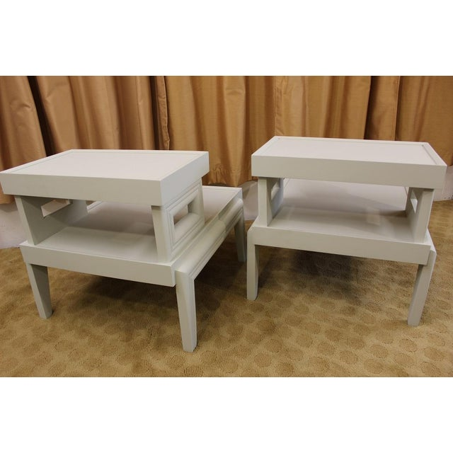 Mid-Century 1950s Step End Tables - A Pair - Image 9 of 9