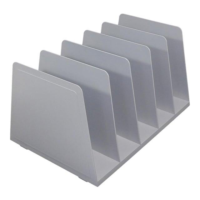 20th Century Modern White Plastic Office Desk File Sorter For Sale