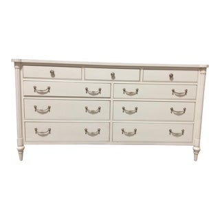Hickory Chair Antique White Bank Dresser For Sale
