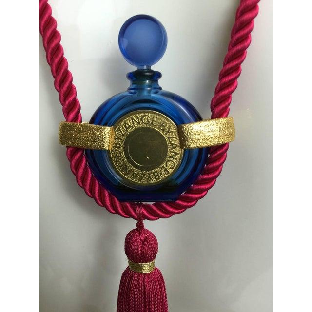 Vintage Rochas Tassel Perfume Pendant Necklace For Sale - Image 4 of 6