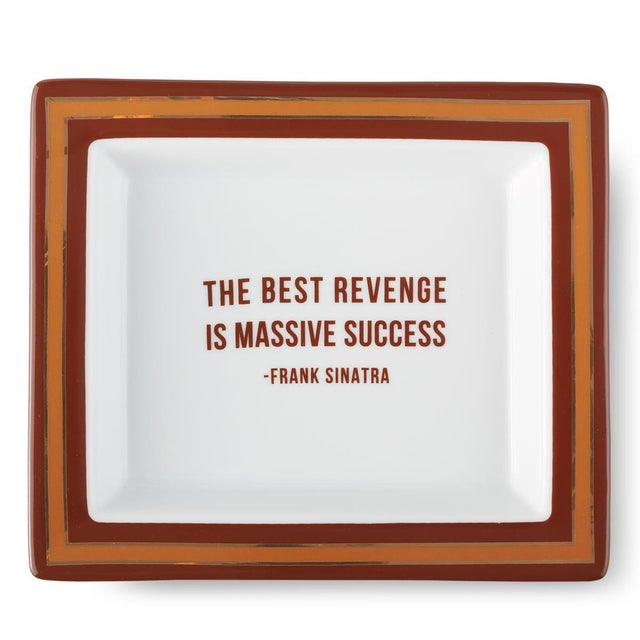 2020s Frank Sinatra Wise Sayings Gentleman's Trinket Tray by Kenneth Ludwig Chicago For Sale - Image 5 of 5