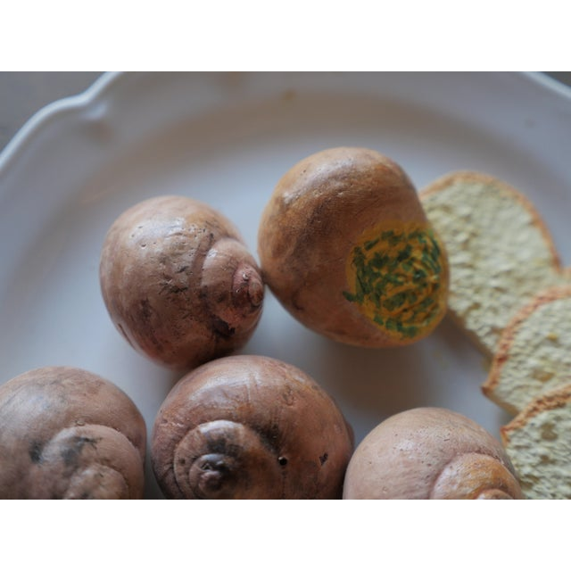 French Christine Viennet Trompe l'Oeil Snail Plate For Sale - Image 3 of 7