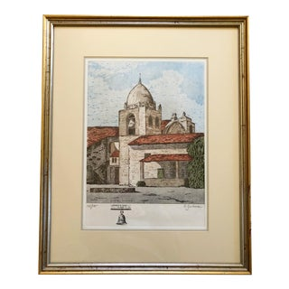 Carmel Mission Etching For Sale