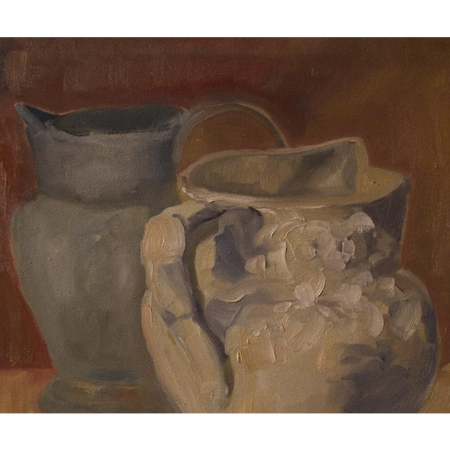 """Two Water Vessels"" Oil Painting - Image 3 of 3"