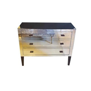1970s 3-Drawer Mirrored Commode For Sale