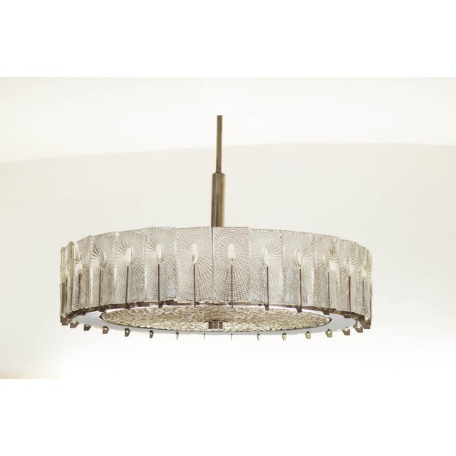 Large Austrian Chandelier by Rupert Nikoll, 1950s For Sale - Image 11 of 11