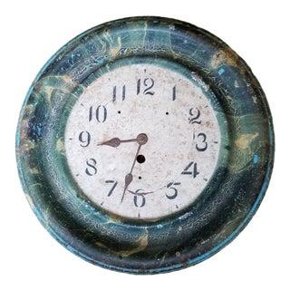 Antique Painted Tole Clock For Sale