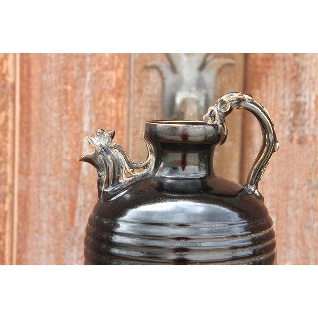 Ceramic Unique Asian Rooster Vase For Sale - Image 7 of 9