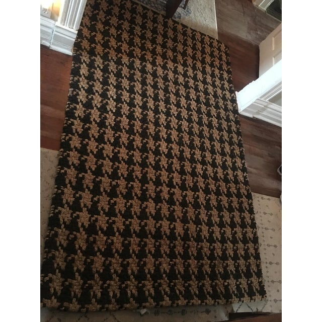 Classic Home Houndstooth Handspun Jute Rug - 5′ × 8′ For Sale - Image 10 of 12