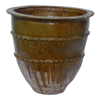 Vintage Mediterranean Terra-Cotta Planter For Sale
