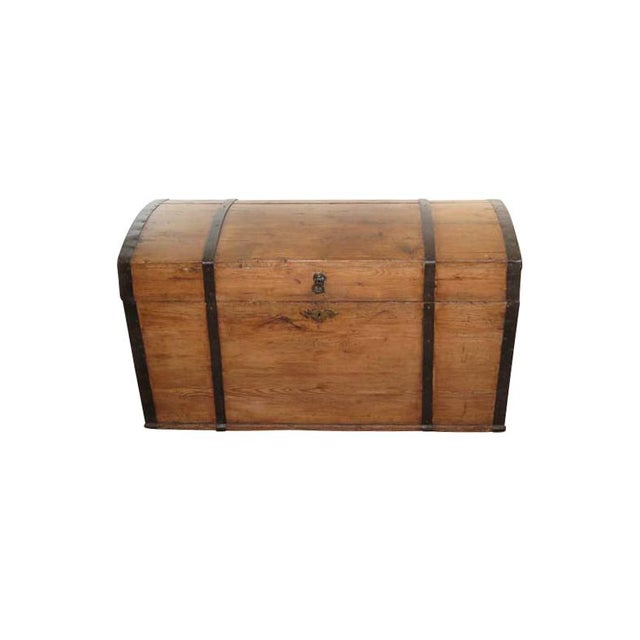 English Pine Dome Top Box For Sale In Boston - Image 6 of 6